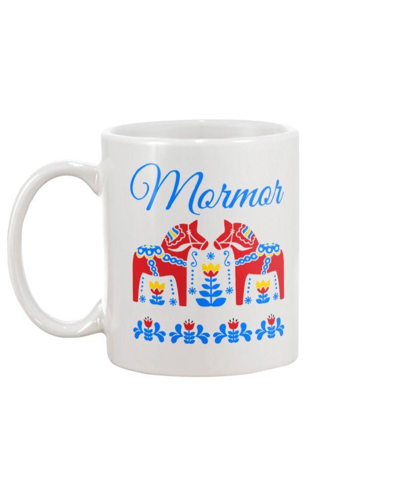 vMormor swedish grandma dala horse mug-1