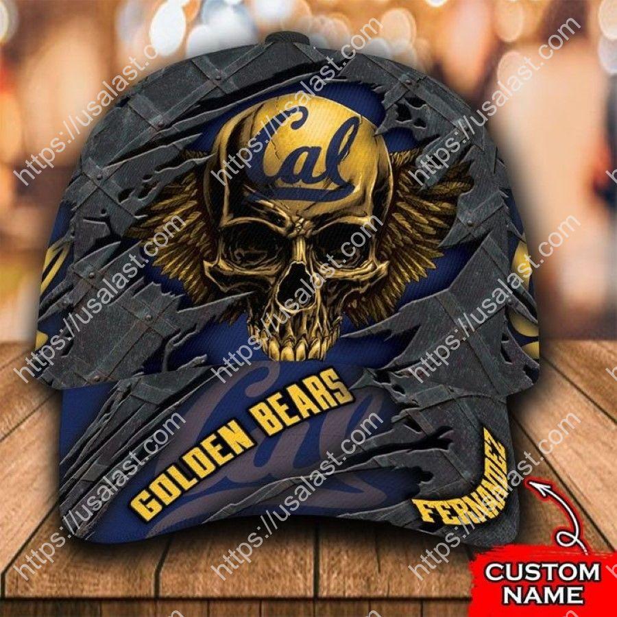 NCAA California Golden Bears 3D Skull Custom Name Classic Cap