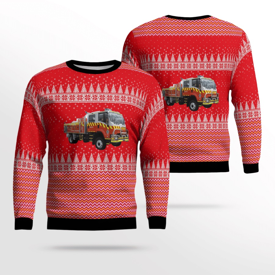 NWS Rural Fire Service Heavy Tanker Ugly Christmas Sweater