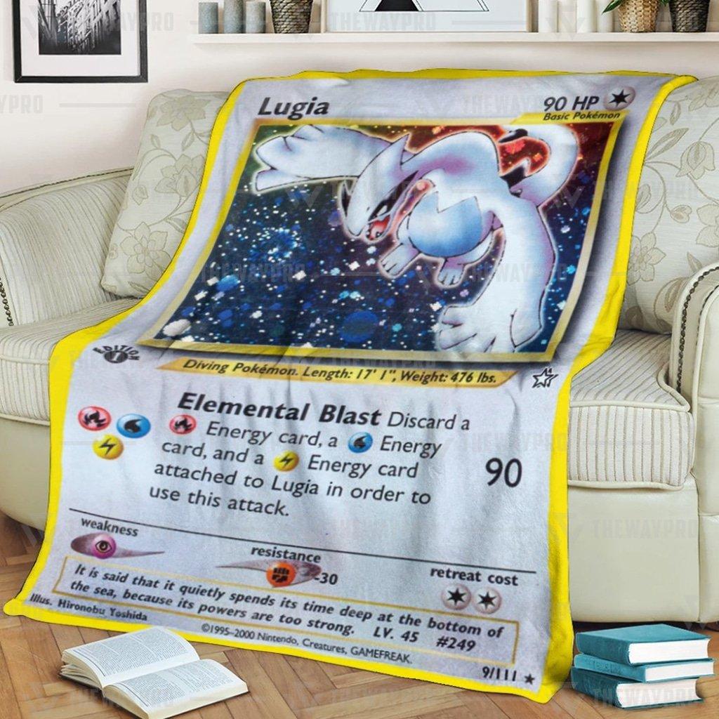 Anime Pokemon Lugia Quilts Blanket