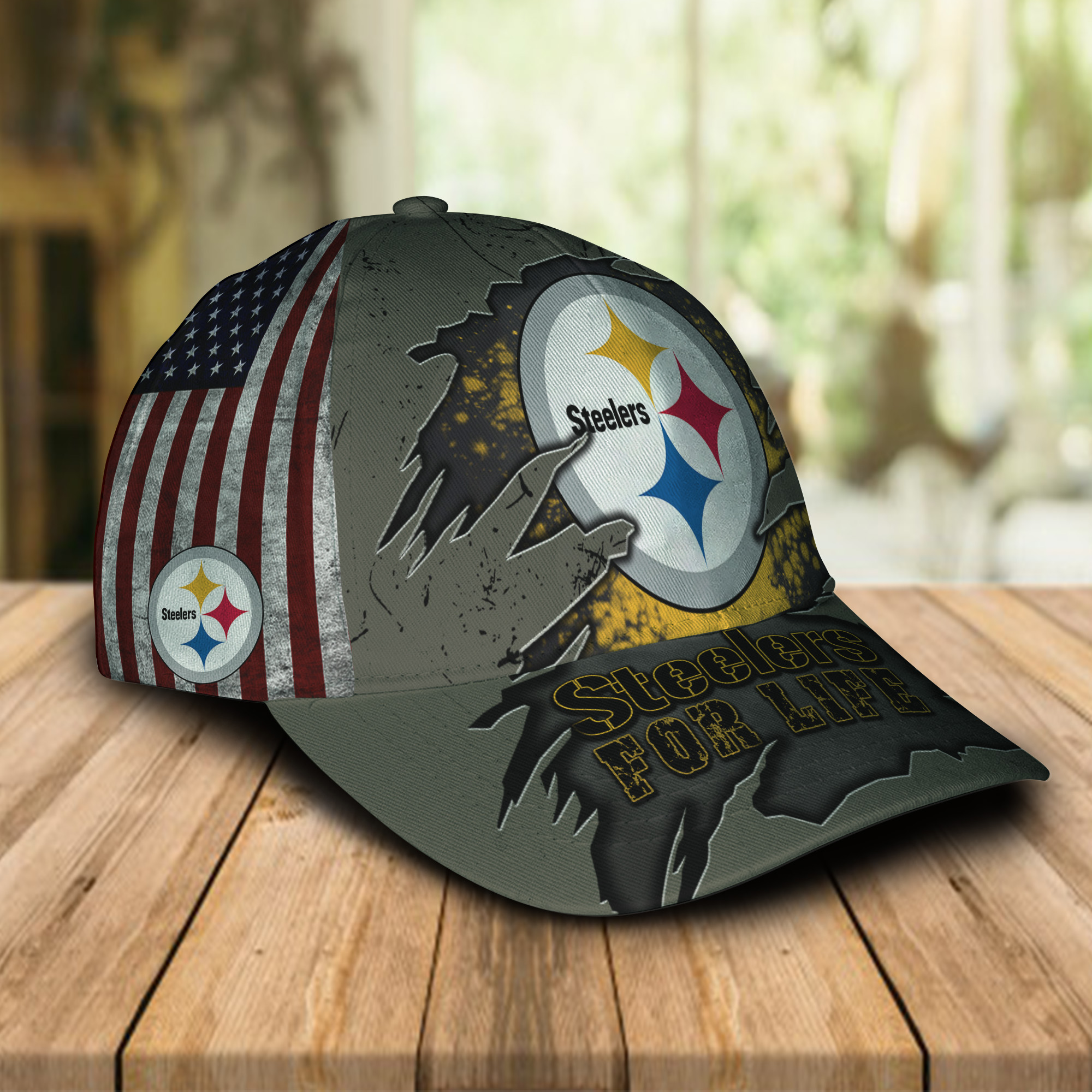 Pittsburgh Steelers For Life Sport Cap For Fan-1