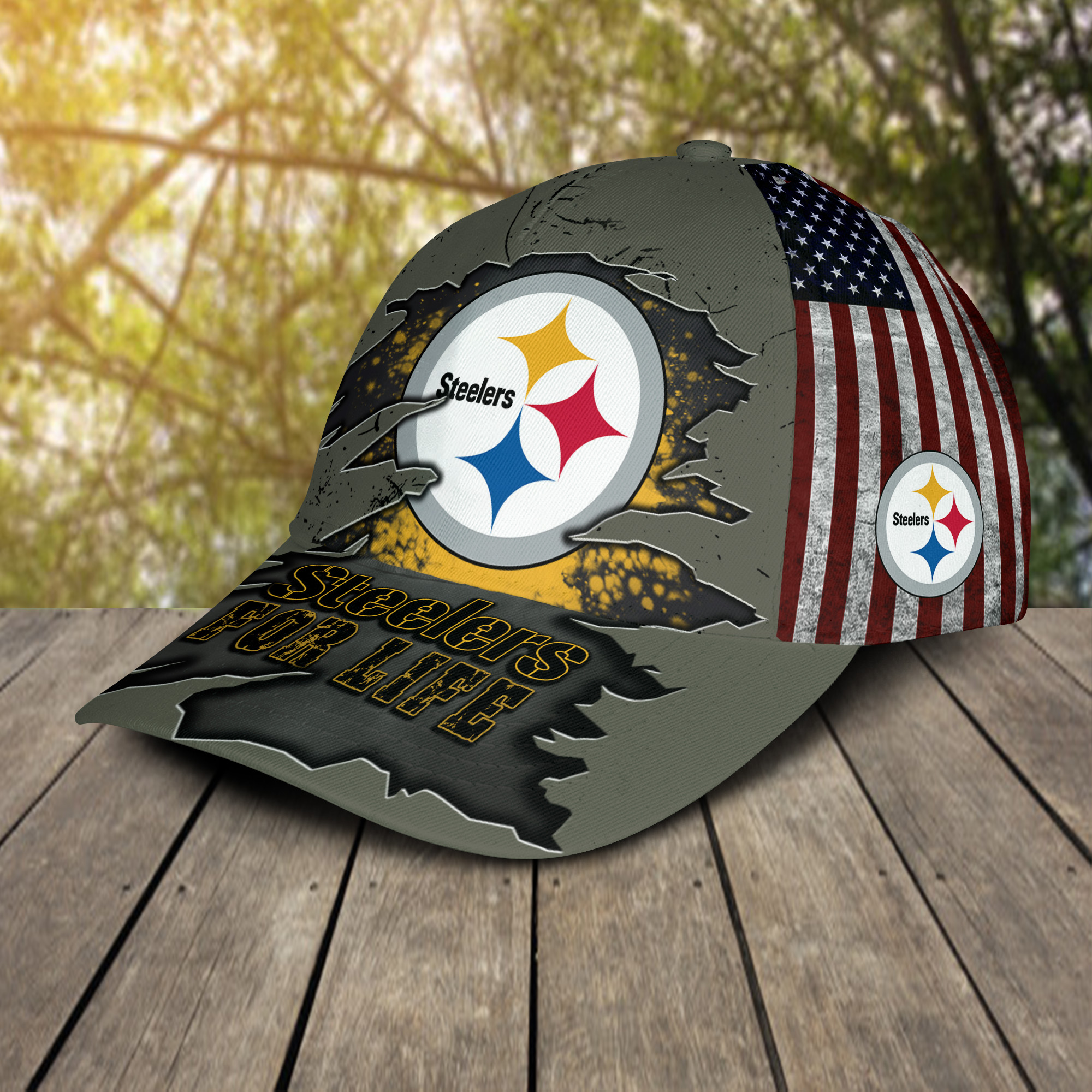 Pittsburgh Steelers For Life Sport Cap For Fan-2