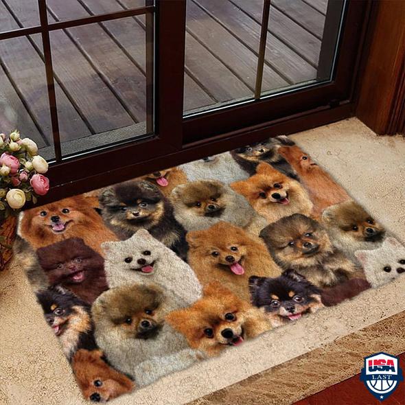 A Bunch Of Pomeranians Doormat