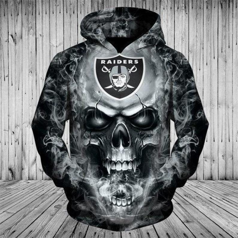 Las Vegas Raiders Skull 3D Full Print Hoodie