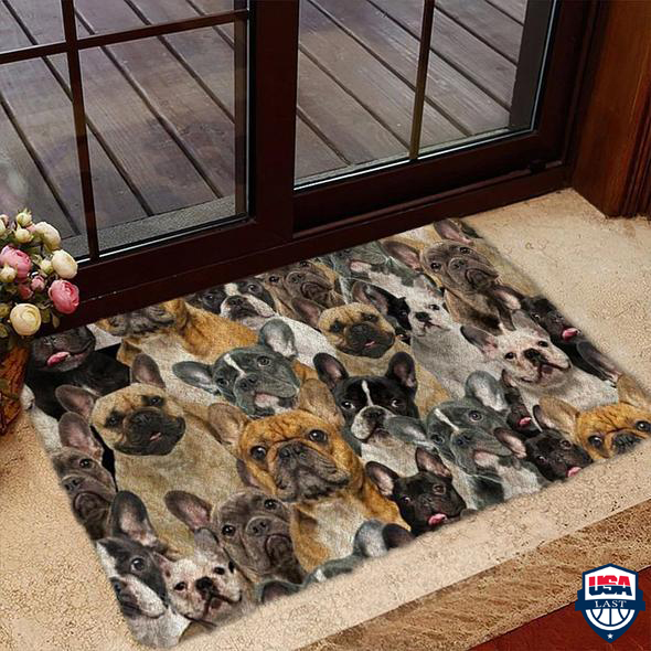 A Bunch Of French Bulldogs Doormat